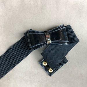 Lilly Pulitzer Black Bow Belt Size XS/S